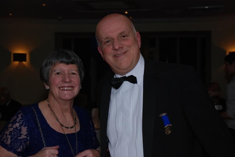 CHARTER DINNER 2015 - Past President Ges Naylor (Blackpool North & Palatine) poses with President Barbara.