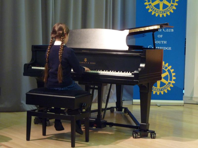 Feb 2013 Cambridge area Rotary Young Musician of the Year - Leys School, Cambridge  CB2 7AD - Youngest competitor - Nika Kapushesky 8yrs