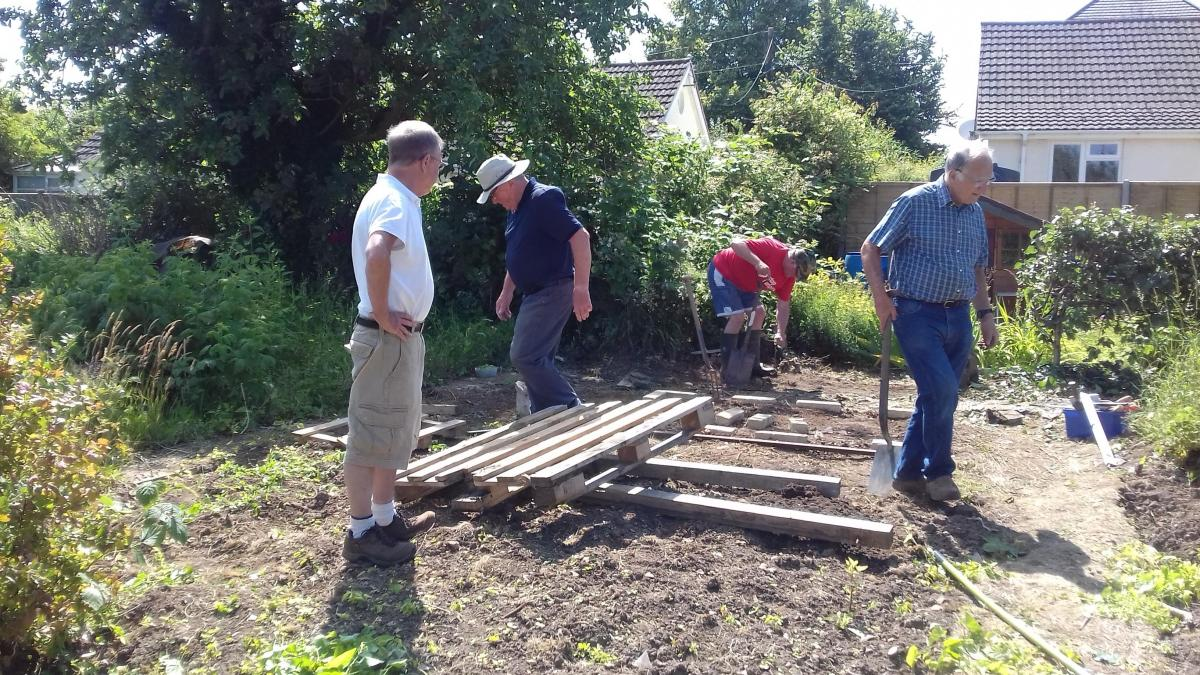 The Rotary Allotment takes shape - Getting ready for the shed