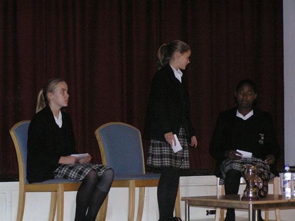 YOUTH SPEAKS 2010 - Bloxham School Intermediate Team.