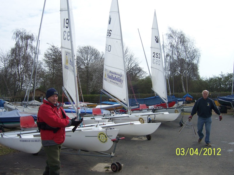 SAILABILITY - 3 of our 7 Challengers ready for clients