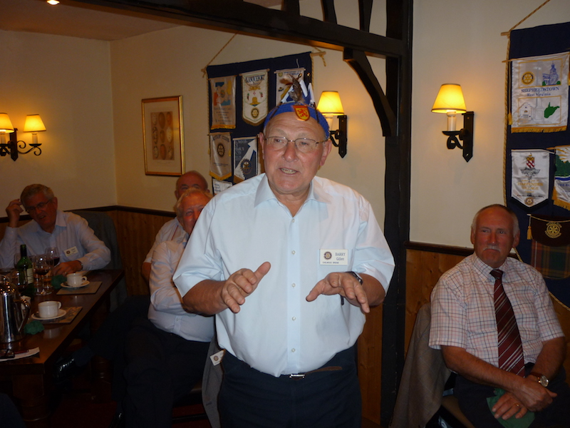 In memory of Rotarian Barry Gillett PHF -