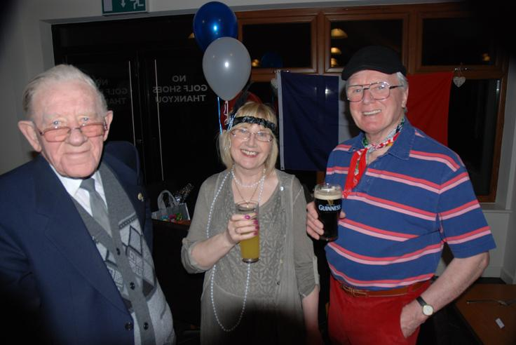 FRENCH THEMED ST VALENTINE DINNER. - Event organisers Ken,Danielle and Stuart.