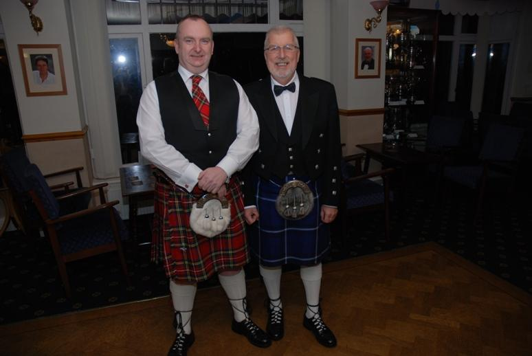 BURNS NIGHT - 2016 - Alf the Orator and Dougie the Accordionist.