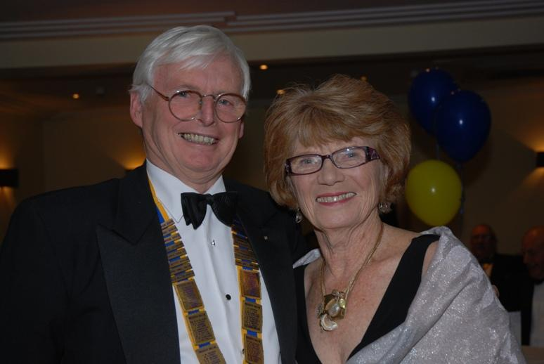 CHARTER DINNER 2015 - Brian Walker poses with Barbra Cropper.