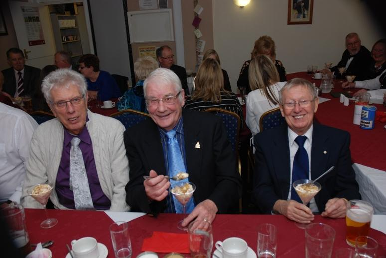 BURNS NIGHT - 2016 - Terry, Harry and Michael about to enjoy their cranachan.