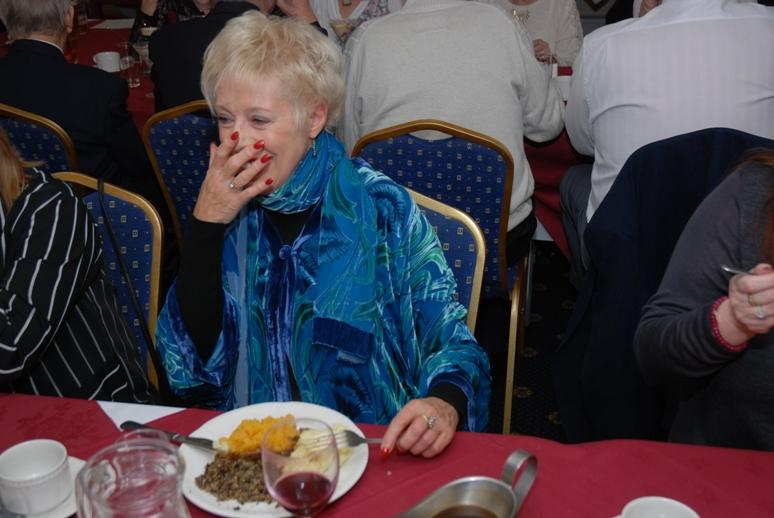 BURNS NIGHT - 2016 - This is the moment she was caught having seconds.