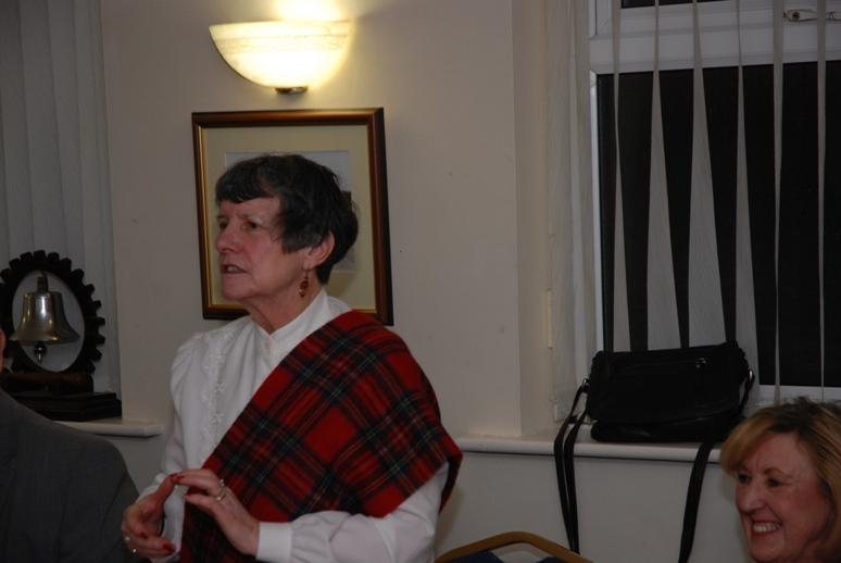 BURNS NIGHT - 2016 - President Barbara addressing the gathering.