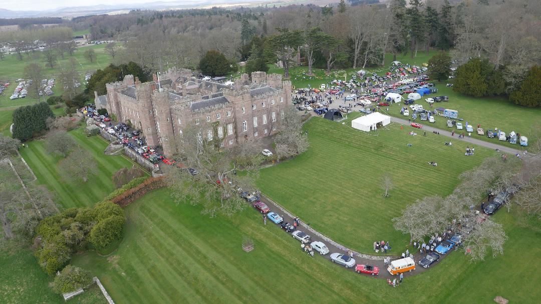 Perthshire Classic Car Festival - 350 Cars on display at Scone Palace 21st April 2018