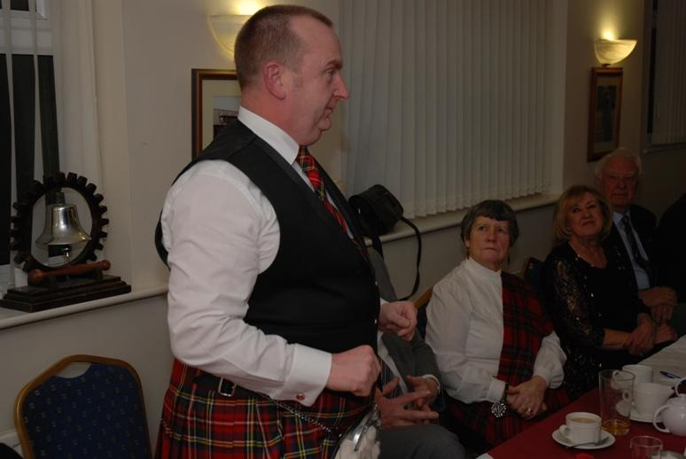 BURNS NIGHT - 2016 - Alf recites a few poems by Burns.