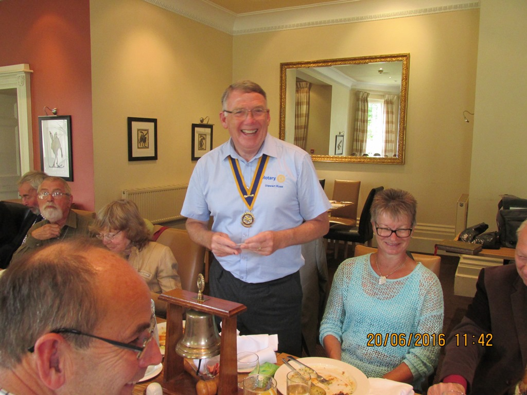 Visit from Odal Rotary Club, Norway - 37 Goodbye from Pres Stewart