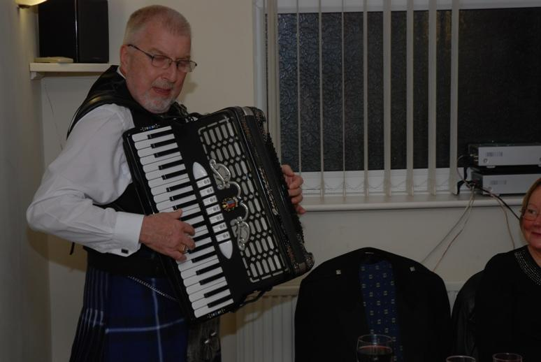 BURNS NIGHT - 2016 - Dougie finished the night off with a great Scottish medley.