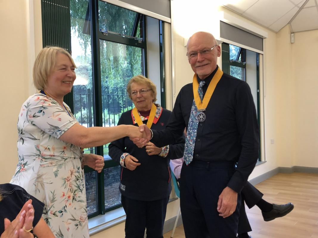New President for our Club - Rotarian William Jones