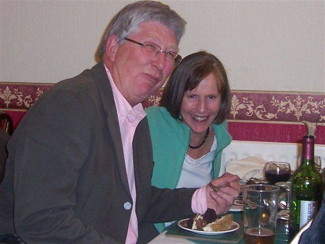 VISIT TO LYNTON CINEMA MARCH - Guest Clive Norris enjoys his dessert