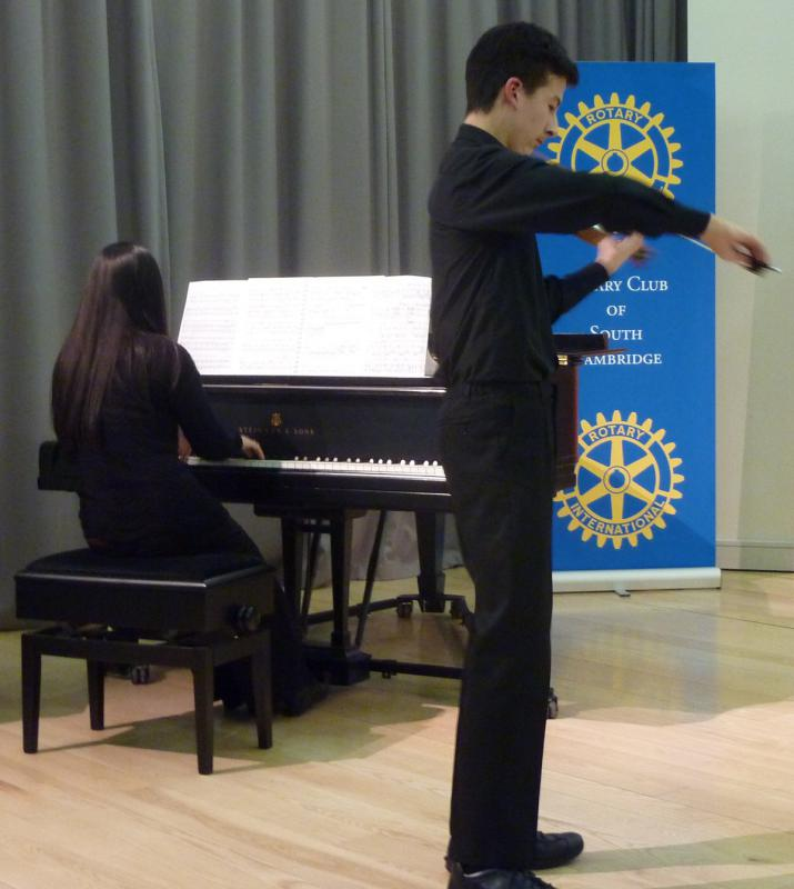 Feb 2013 Cambridge area Rotary Young Musician of the Year - Leys School, Cambridge  CB2 7AD - WINNER of instrumental competition - Alexander Harris