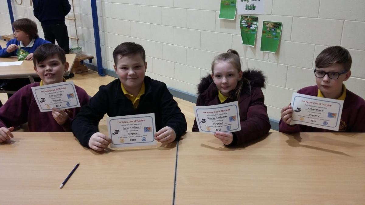 Rotary Primary School Quiz Club Heat 2019 - Penpont Primary School Team