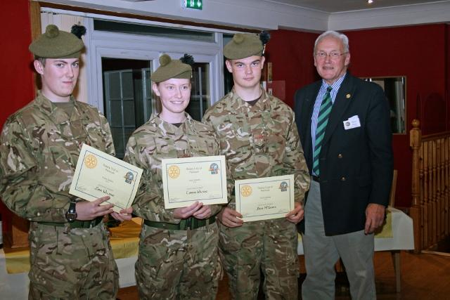 Youth Speaks in Penicuik - In third place were another team from the Army Cadets