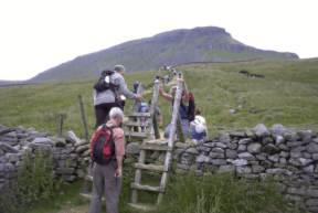 2003 Charity Walk Yorkshire 3 Peaks - Ready to ascend Pen y Ghent