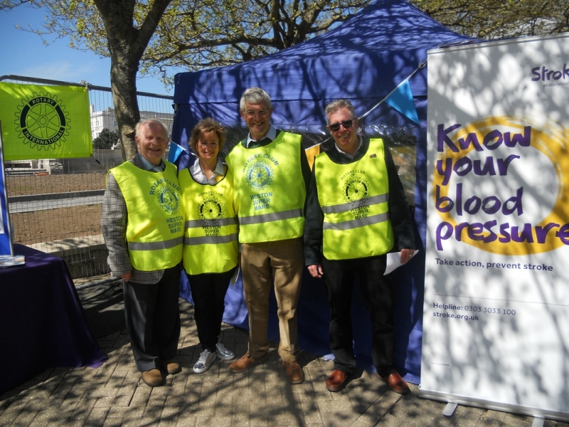 Annual 'Know your Blood Pressure Day' - Some of the team, Terry Gilbert, Joyce Oliver, Stewart Evans, George Horsfield