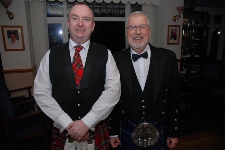 BURNS NIGHT - 2016 - If you think Alf is a grimacer, you should see him perform!