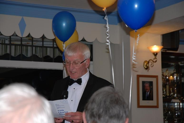 CHARTER DINNER 2016 - Rotarian Trevor explaining 'The Object of Rotary'.