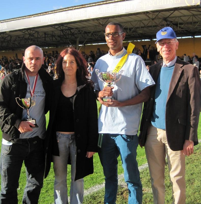 Oct 2012 PRESENTATION of Football Trophies - the Tommy McLafferty Cup - 4Lee, Emma, Dexter, Mike