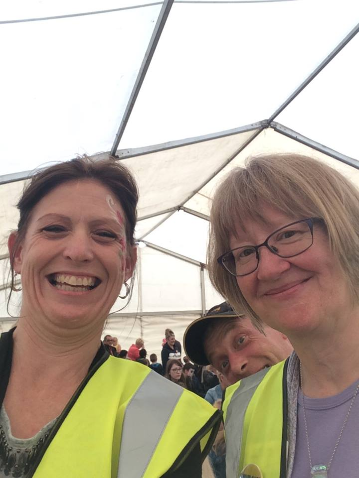 Kinship Carers June 2017 - Heather and jo get photo bombed!