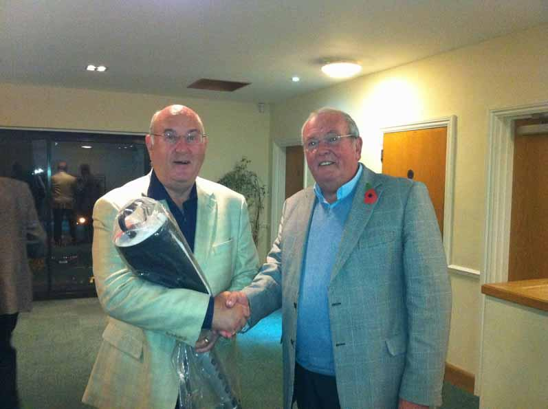 5 November 2012 - Chris is ROAGS trophy winner - Bruno presented with prize for best score on back 9 holes