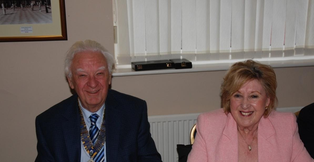 INDUCTION OF PRESIDENT ERIC HIND - 3RD JULY 2017 - Eric and Anne - a winning team.