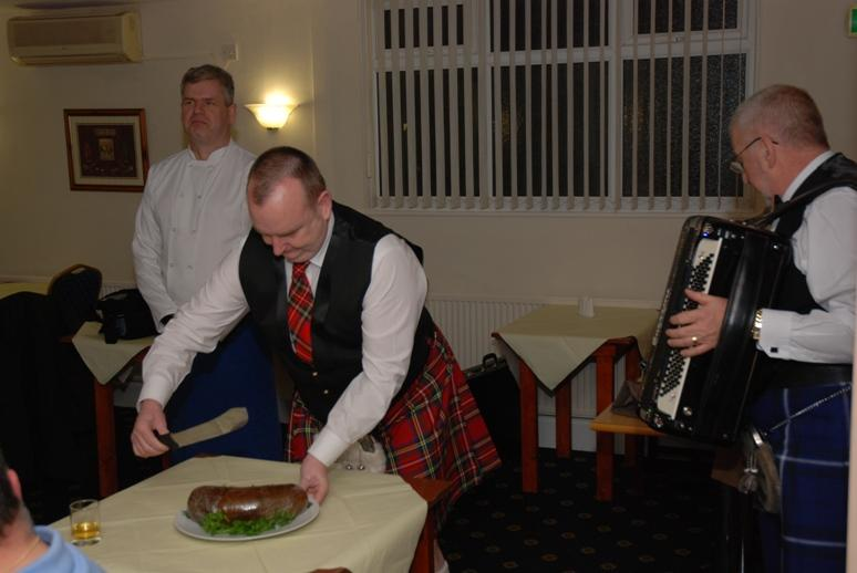 BURNS NIGHT - 2016 - The poor haggis is about to be brutalised!