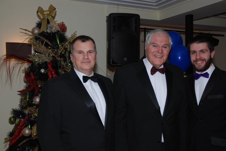 CHARTER DINNER 2015 - MC Jeff with his son Darren and youngest grandson Thomas.