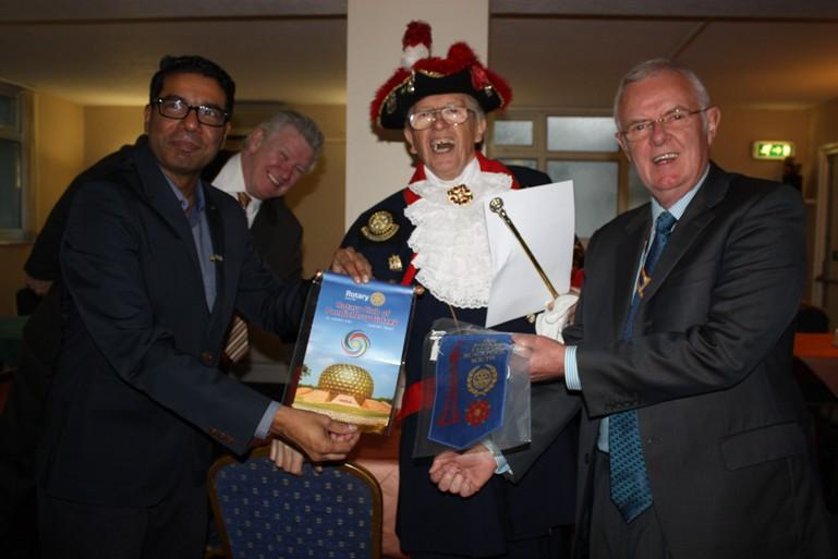 Hospital Consultant from India visits Blackpool South Rotary Club - Tony Jo always gets in the picture!
