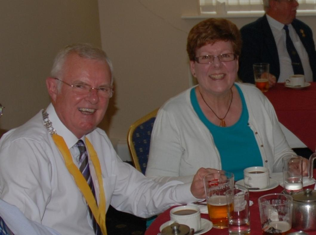 INDUCTION OF PRESIDENT ERIC HIND - 3RD JULY 2017 - Pat and Lesley - now part of the presidential team