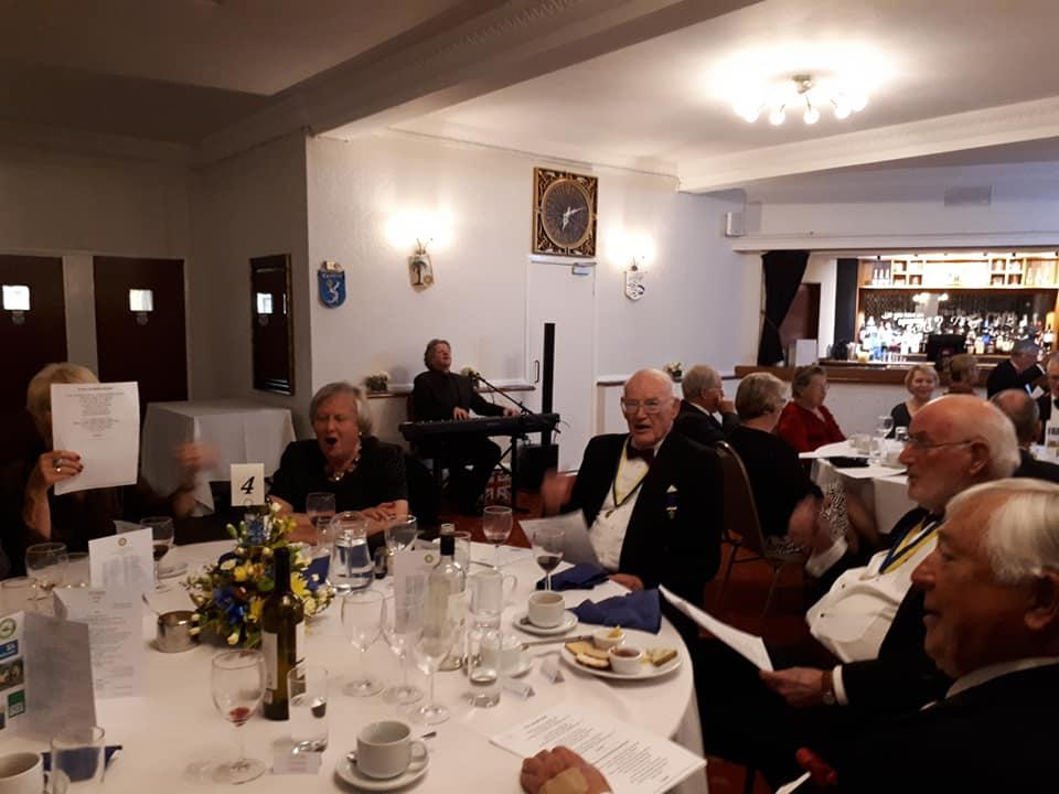 Presidents Night at The Beam Bridge Inn - Some of the guests at President's night
