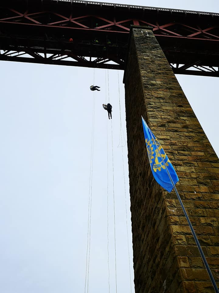 Forth Bridge Abseil reaches £1m - 65997097