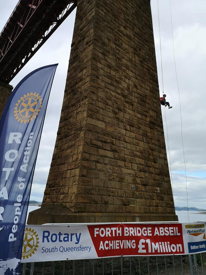 Forth Bridge Abseil reaches £1m - 66142840