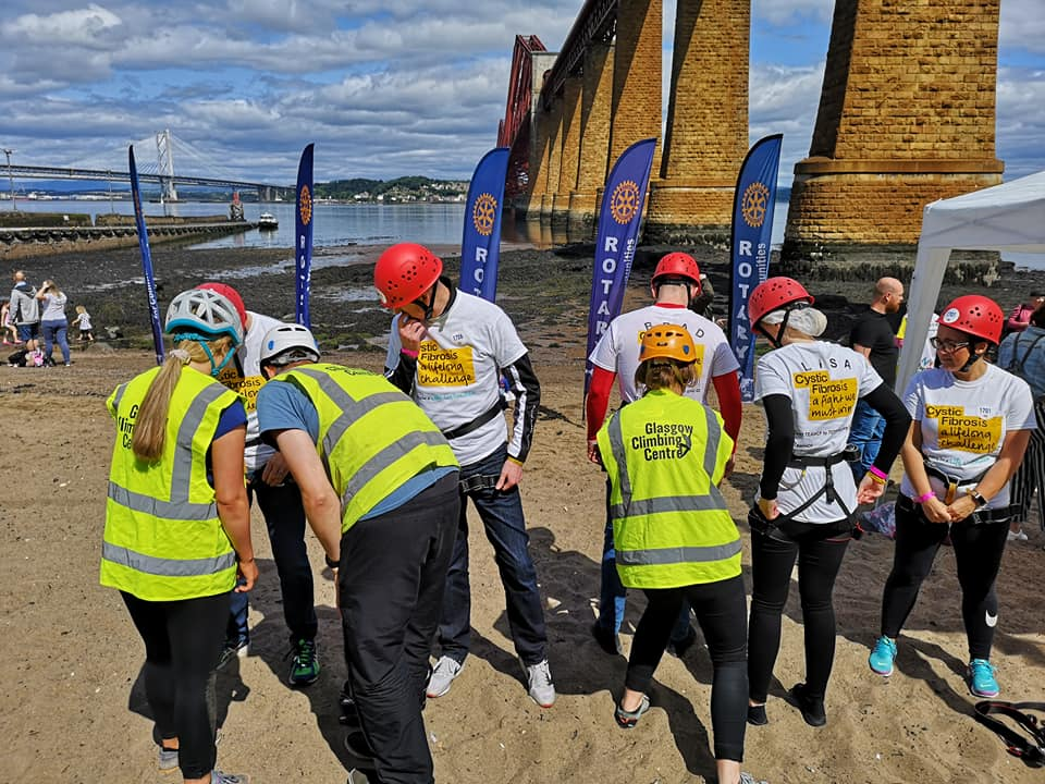 Forth Bridge Abseil reaches £1m - 66579258
