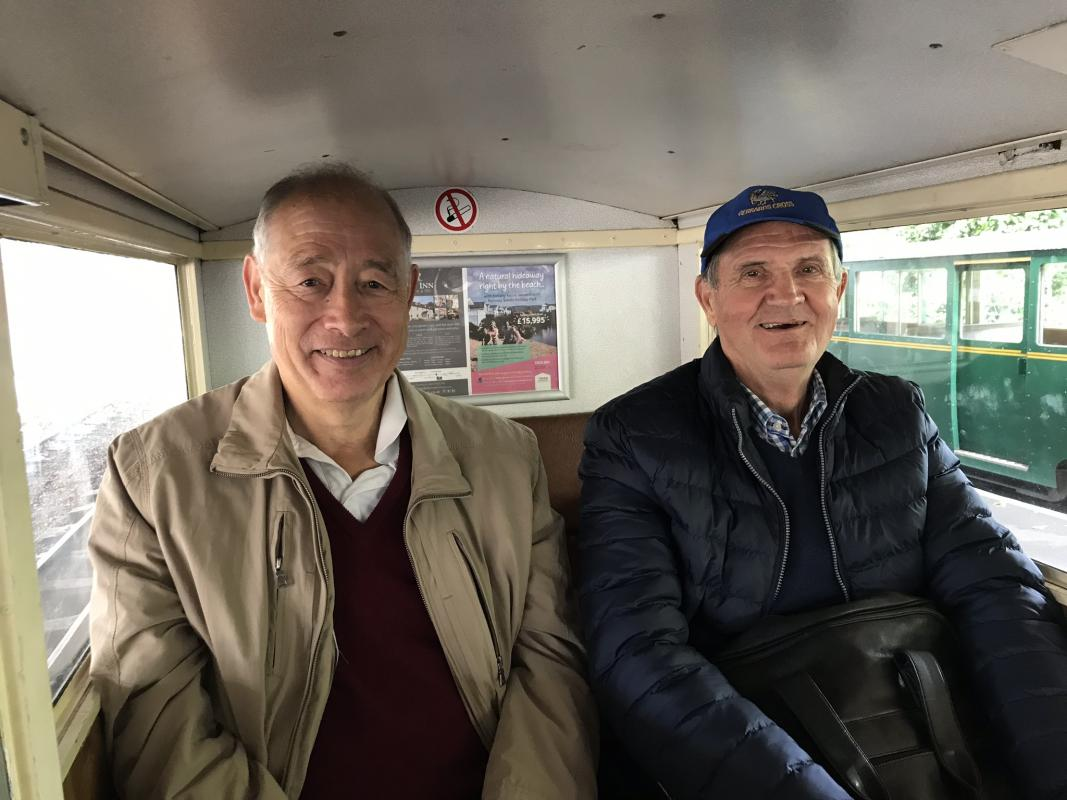 Romney Hythe Railway Visit - Rod and Herry enjoying the ride