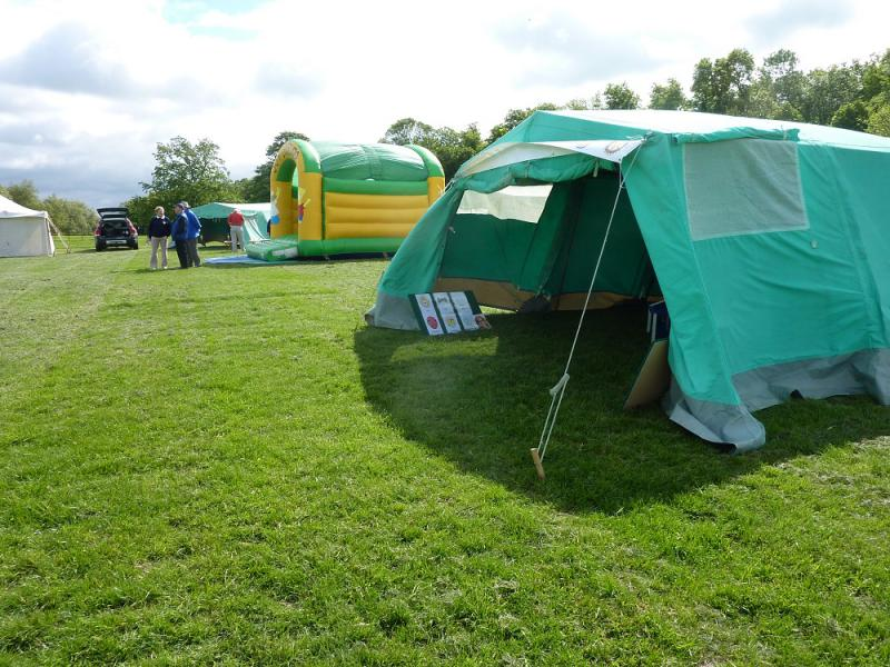 Jun 2013 Kids Out Day at Wimpole Hall and Farm - 5 Getting the Bouncy Castle and Face painting Tent all organised