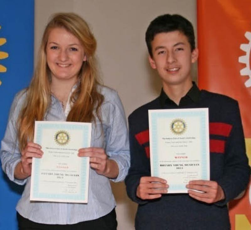 Feb 2013 Cambridge area Rotary Young Musician of the Year - Leys School, Cambridge  CB2 7AD - WINNERS - Isobel and Alexander - Congratulations!
