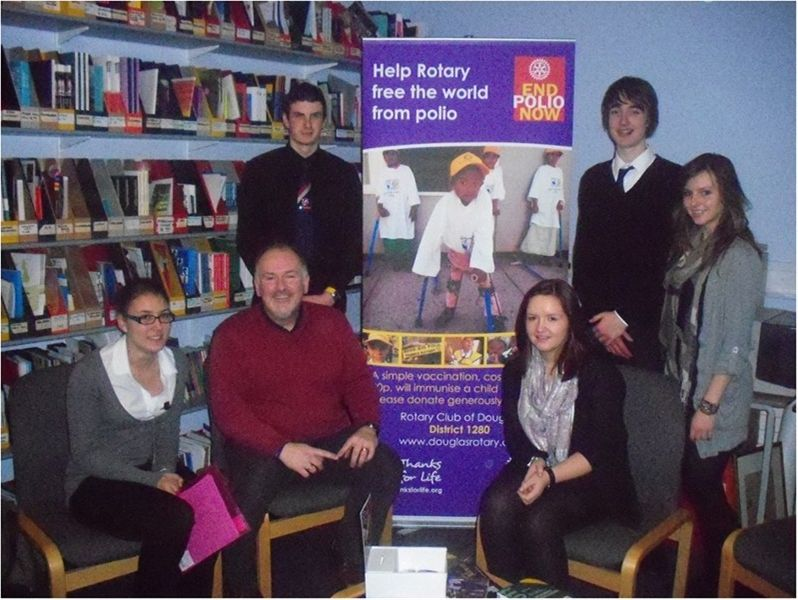 End Polio Now - St. Ninian's Charity Committee with Rotarian Kevin Kneen