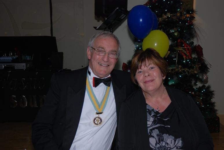 CHARTER DINNER 2015 - The official posers, Assistant District Governor Cyril and his wife Carol.