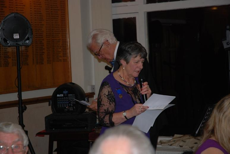 CHARTER DINNER 2016 - Immediate Past President Barbara proposing the Toast to Rotary International and Rotary. International in Great Britain and Ireland.