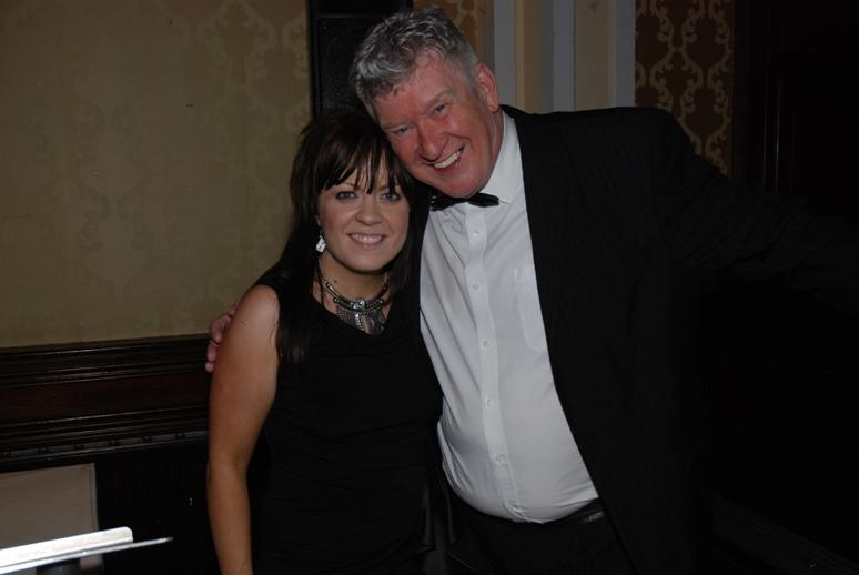 Gerry's Celebration Commemorative Dinner - Singer Jess Jones with Master of Ceremonies Tony Jo.