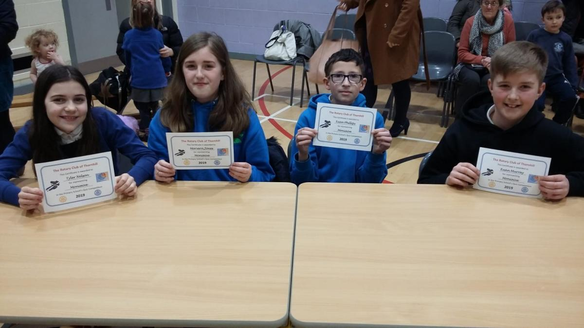 Rotary Primary School Quiz Club Heat 2019 - Moniaive Primary School Team