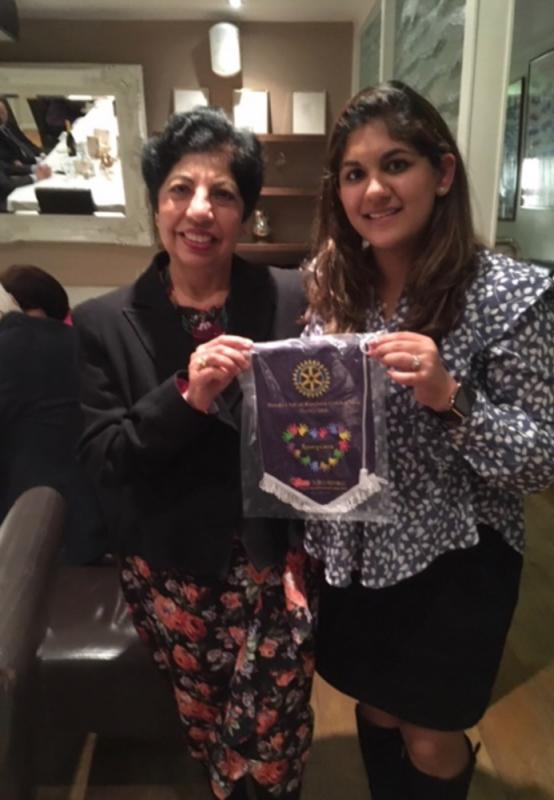 Visiting Rotarian from Hong Kong -