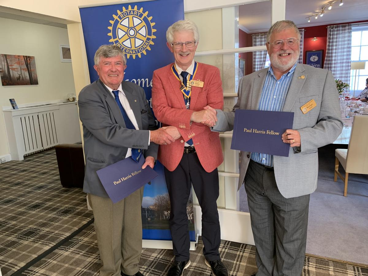 PRESIDENTIAL HANDOVER - IPP Robin with new PHFs Brian Townsend and Norman Jones