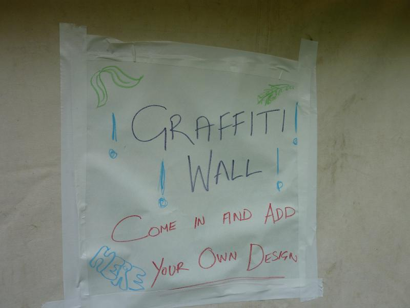 Jun 2013 Kids Out Day at Wimpole Hall and Farm - 6 Graffiti Wall Tent on offer