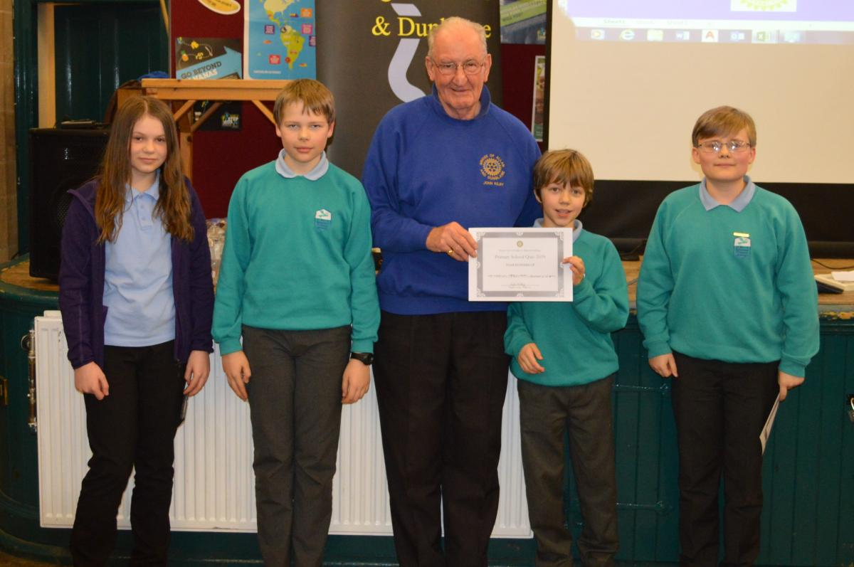 Primary School Quiz 8 March @Cathedral Hall Dunblane 15.30 - Runners up St Mary's Episcopal team
