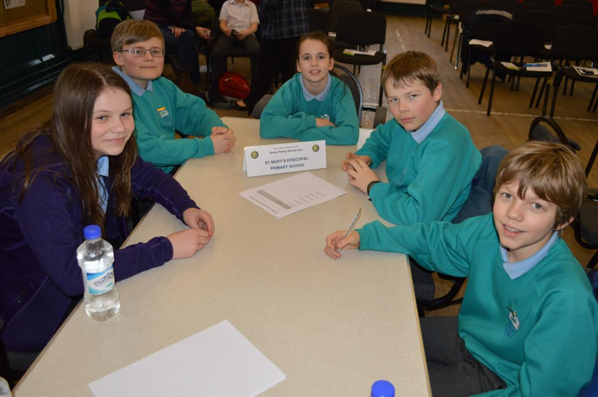 Primary School Quiz 8 March @Cathedral Hall Dunblane 15.30 - St Mary's team